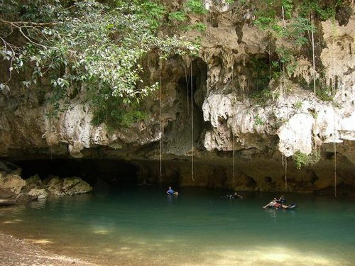 Excursion por las cuevas de Belice