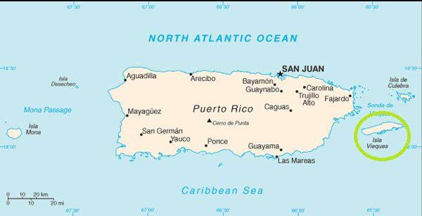 Mapa de Vieques