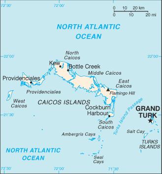 Mapa islas Caribe
