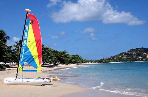 Vigie Beach en Santa Lucia