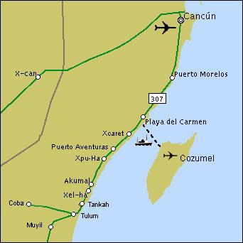 Mapa de Akumal