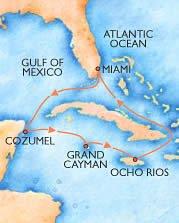 Mapa del Carnival Triunph