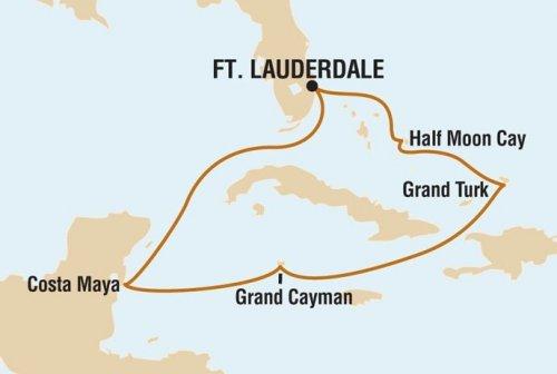 mapa del recorrido del crucero