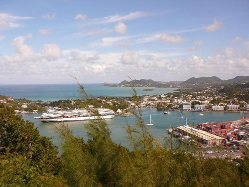 castries en Santa Lucia