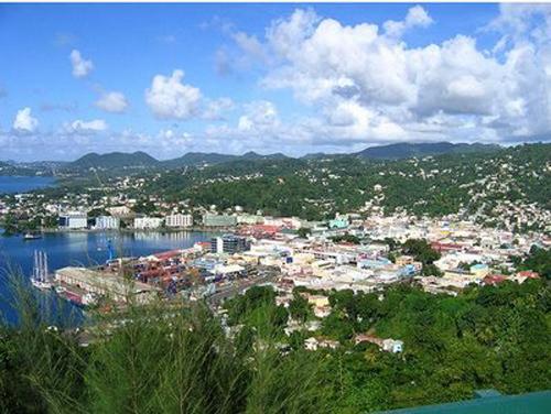 puerto castries en Santa Lucia