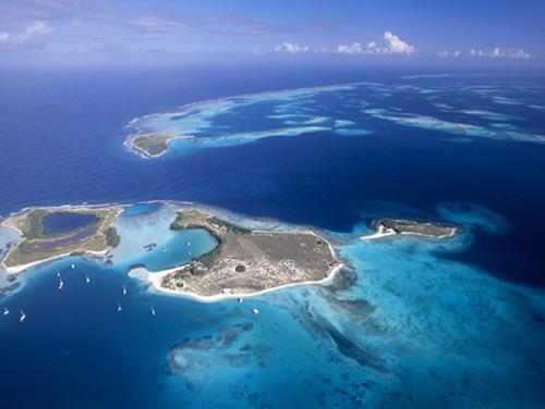 Isla coralina del Caribe