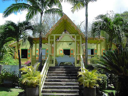 Romney Manor, jardines en San Cristobal y Nieves