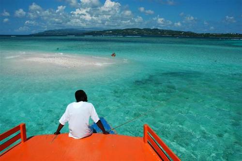Nylon Pool, una laguna en Tobago