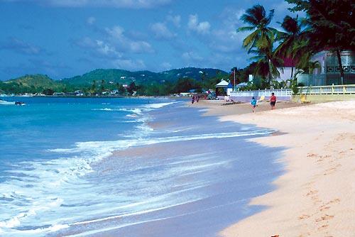 Reduit Beach, la playa de Santa Lucía