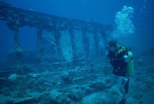 Bucear en el RMS Rhone