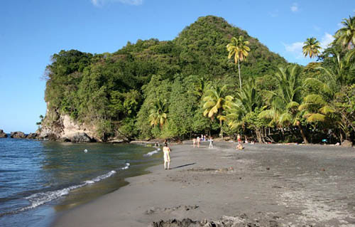 Las playas negras de Martinique